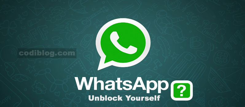 Unblock Yourself from WhatsApps