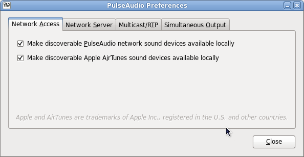 Enable audiostreaming to UPNP device - paprefs not available