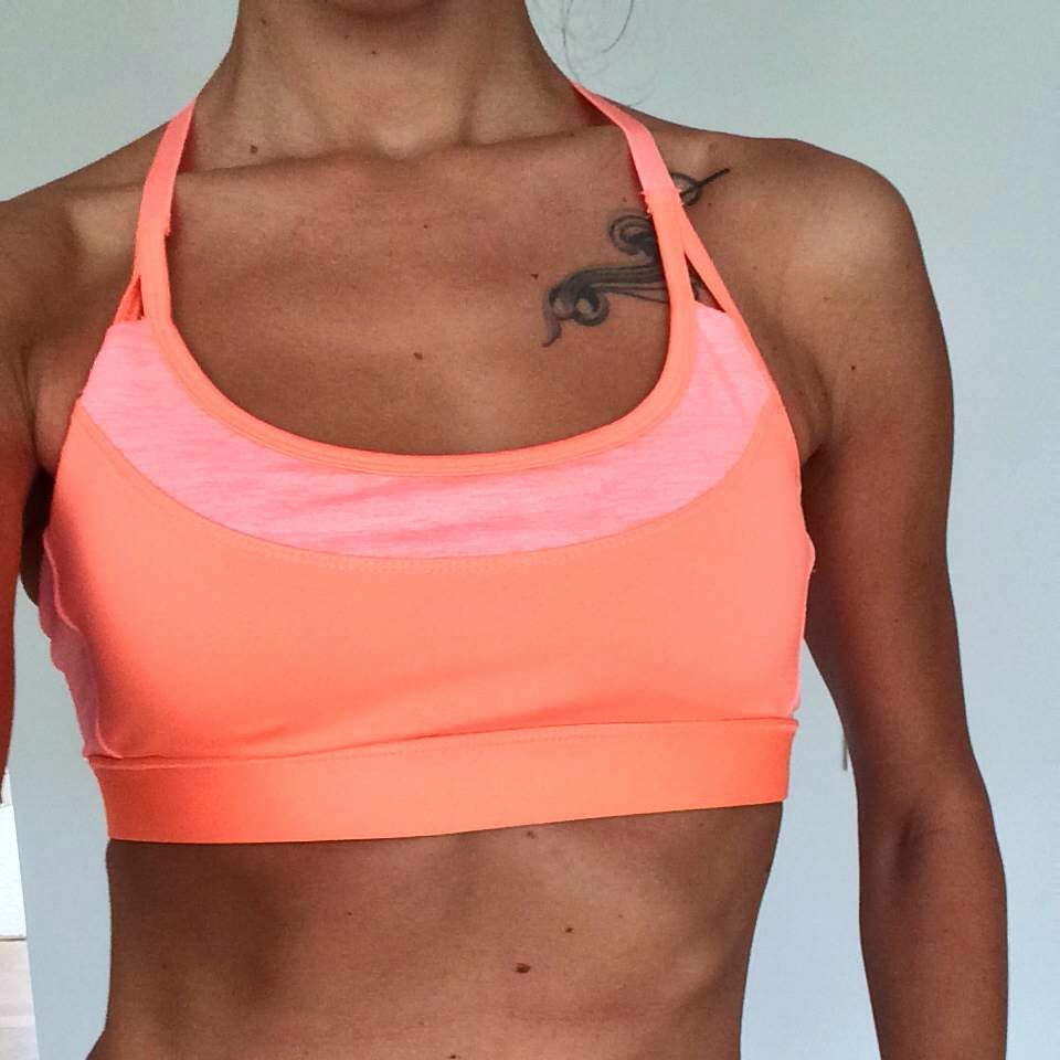 fitness model hm sports bra tattoo
