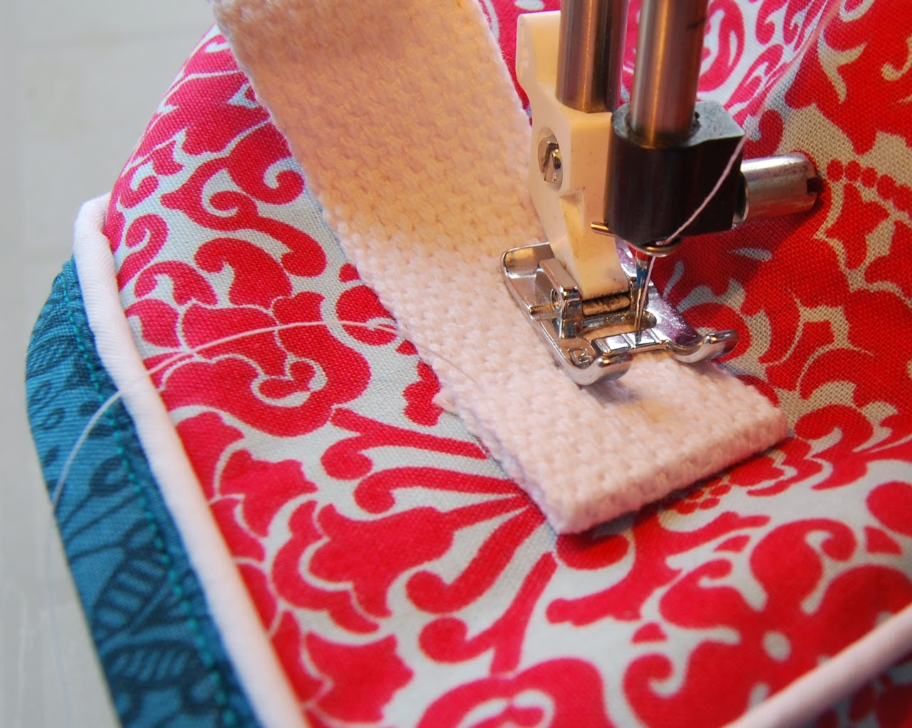 sewing handles on