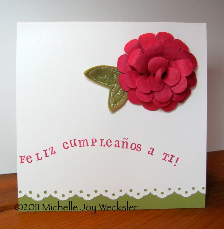 Figments Of My Imagination: Spanish Happy Birthday Card