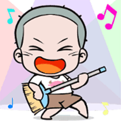 Skinhead Boy Animated Sticker