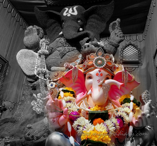 Ganesh Pandal Hopping - Eco Friendly Indian Spices Ganpati in Malad, Mumbai
