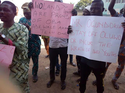 Protest Rocks Iwo, Protesters Want Deposed Oludokun Ostracized Over Insubordination To Oluwo
