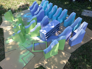Cheap way to make your paper book bins match your classroom perfectly- $1 book bins from IKEA and spray paint