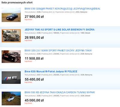 Jak szukać samochodu na allegro? Jaki samochód kupić? Poradnik motoryzacyjny. Blog Motodrama.
