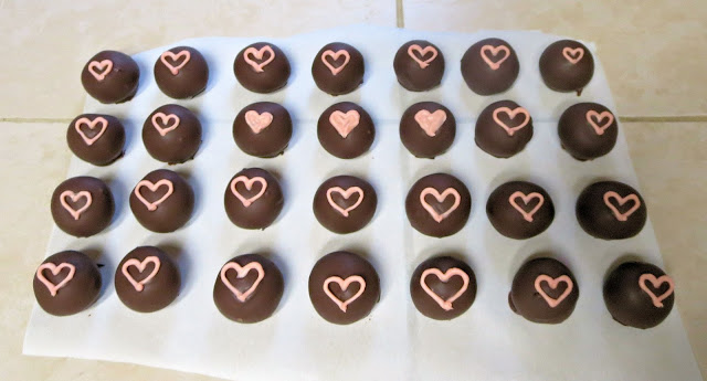 Pink Heart Cake Balls - Three Hearts Filled