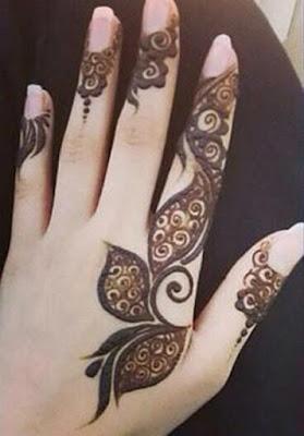 Mehndi designs of fingers