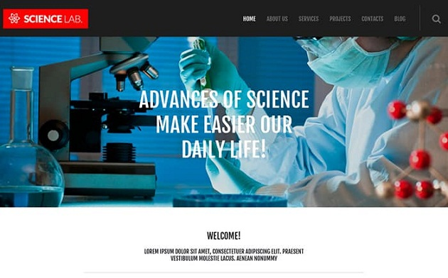 Scientific Laboratory – Excellent WordPress Theme