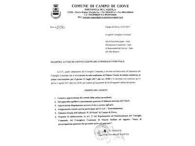 Il 31 luglio è convocato il Consiglio comunale di Campo di Giove per discutere di scuola e migranti