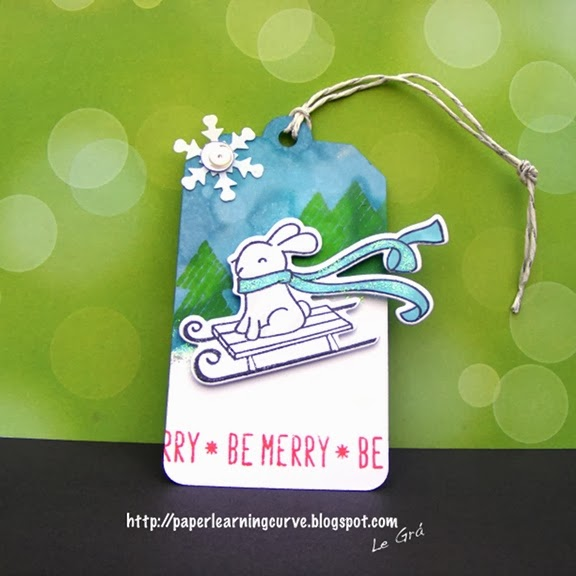 Lawn Fawn Winter Bunny & Peace Love Joy Tag