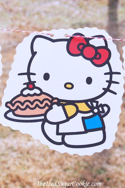 Hello Kitty Birthday Party DIY Flag Bunting Banner Garland Idea