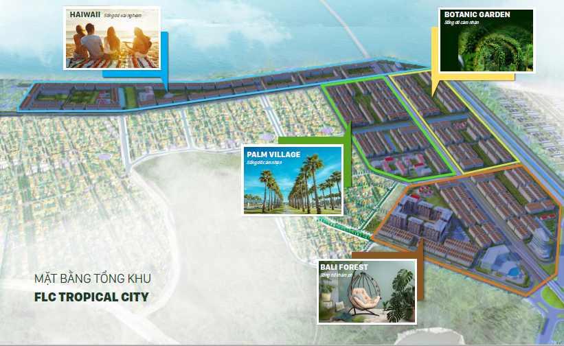 Mặt bằng quy hoạch phân khu dự án Flc Tropical City Hà Khánh