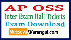AP OSS Inter Exam Hall Tickets Download 2017
