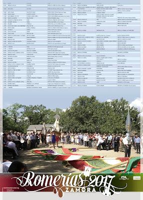 Calendario de romerias por Zamora 2017