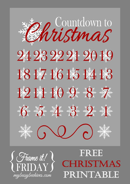 Countdown to Christmas, a free printable