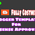 Fast Adsense Approval Blogger Template