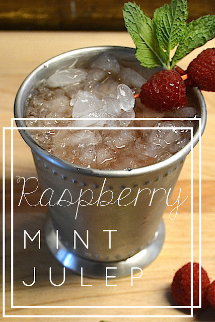 The perfect summer cocktail for a gal who loves whiskey. Sweet mint pairs perfectly with the tart raspberry to create a deliciously icy summer cocktail. Pin this raspberry mint julep recipe now + make later!
