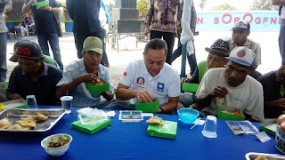 Serap Aspirasi, Ketua MPR Ajak Makan Siang Ratusan Tukang Becak Kota Pekalongan