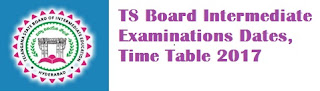 TS Inter 2nd Year Time Table 2017
