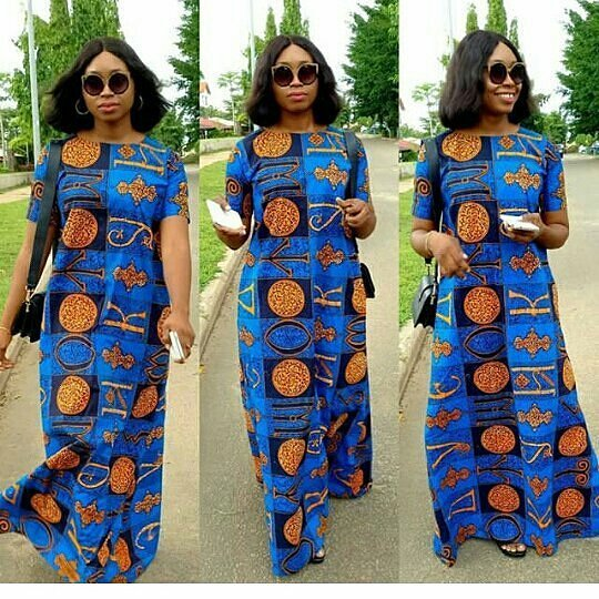 Simple A-Shape Ankara Long Gown Styles for Beautiful Ladies ...