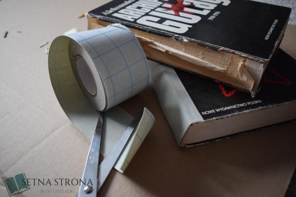 jak naprawić grzbiet książki