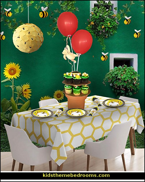 bumble bee  winnie pooh party decorations  bee themed party - bumble bee decorations - Bumble Bee Party Supplies - bumble bee themed party - Pooh themed birthday party - spring themed party - bee themed party decorations - bee themed table decorations - winnie the pooh party decorations - Bumblebee Balloon -  bumble bee costumes