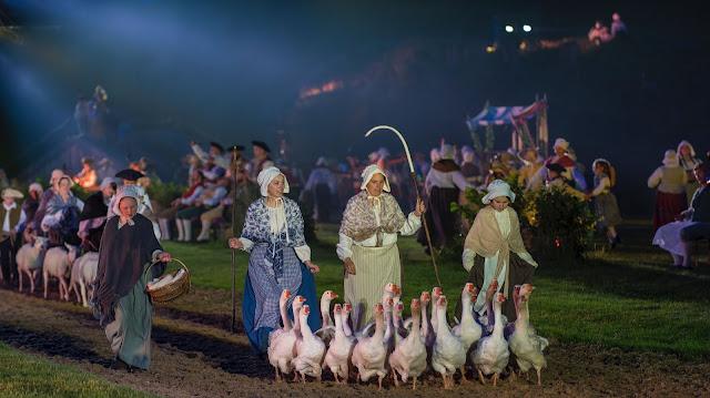 geese at Kynren