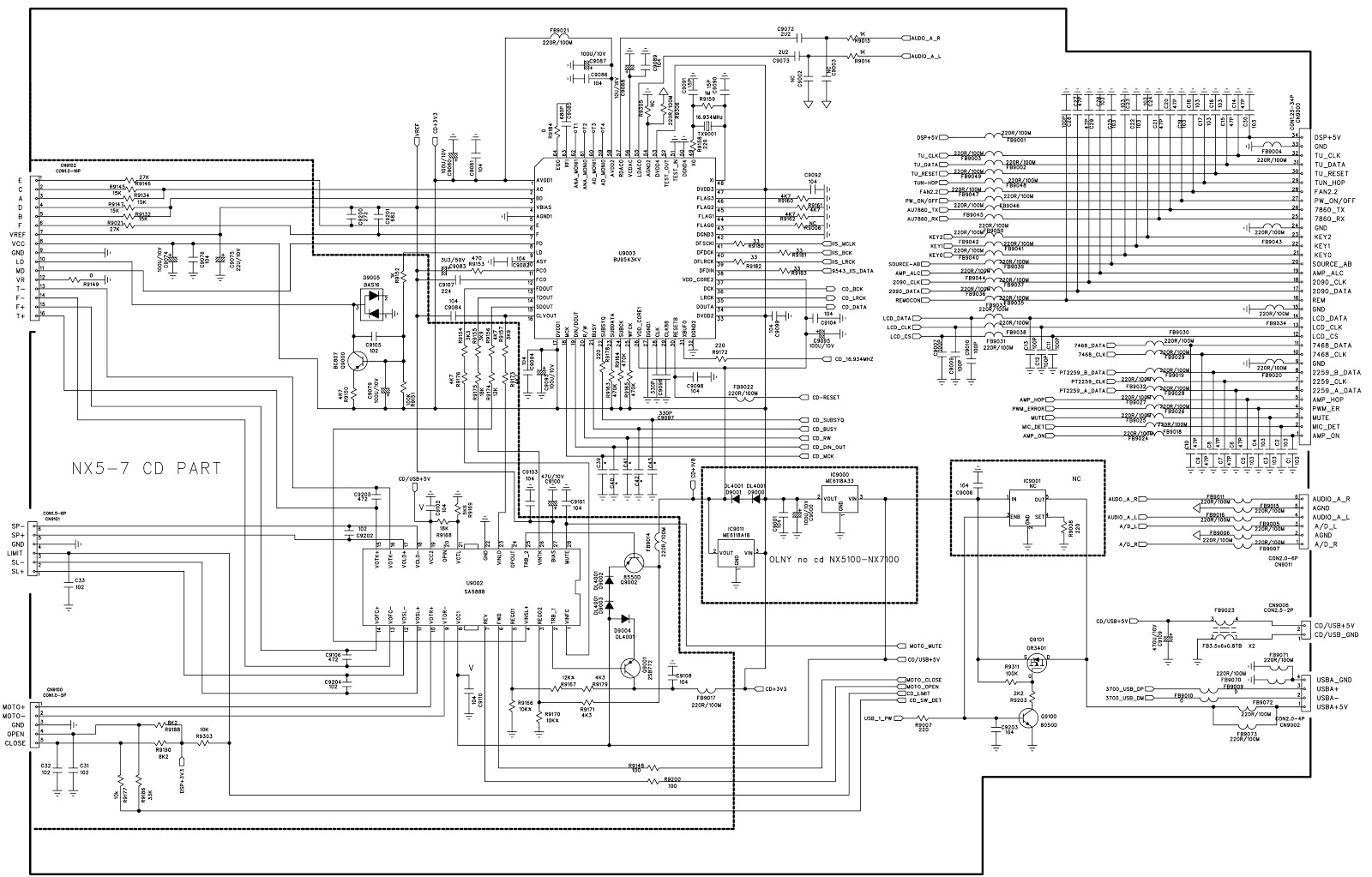 Subwoofer Board Diagram