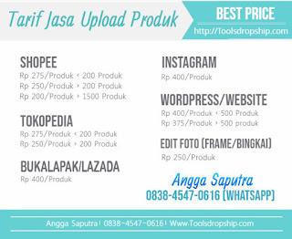 jasa upload produk termurah mass upload produk ke tokopedia bukalapak lazada shopee wordpress dengan massal