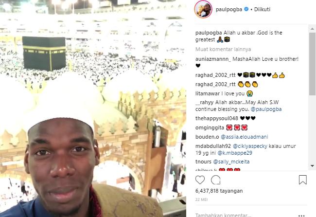 """Sujud Syukur, dan Mimpi """"Haji"""" Pogba Juarai Piala Dunia Terwujud Juga"""