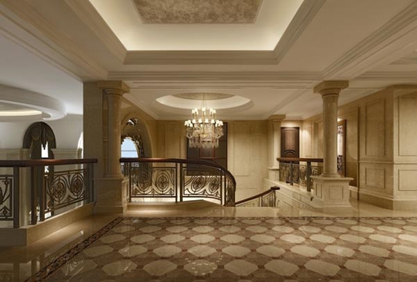 European villa corridor model renderings free 3d max models