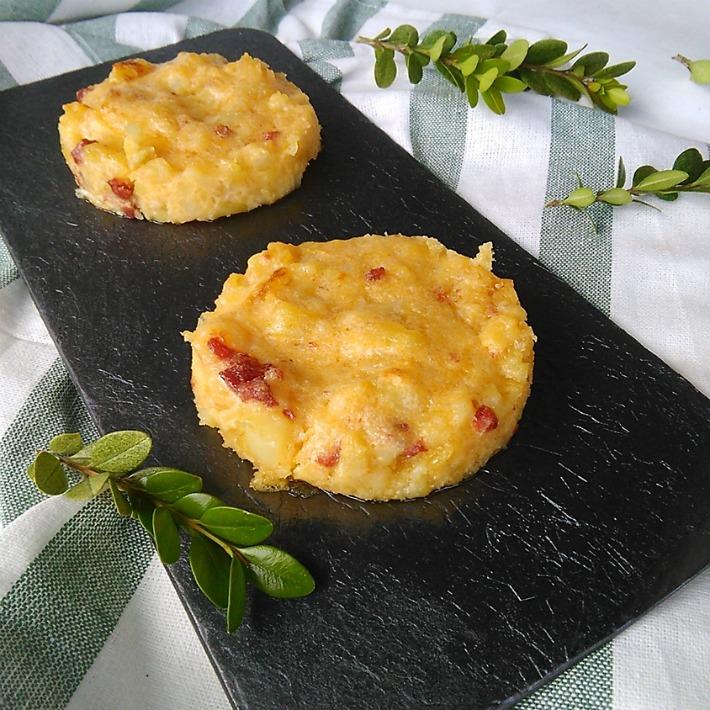 Mini tortillas de patata al horno