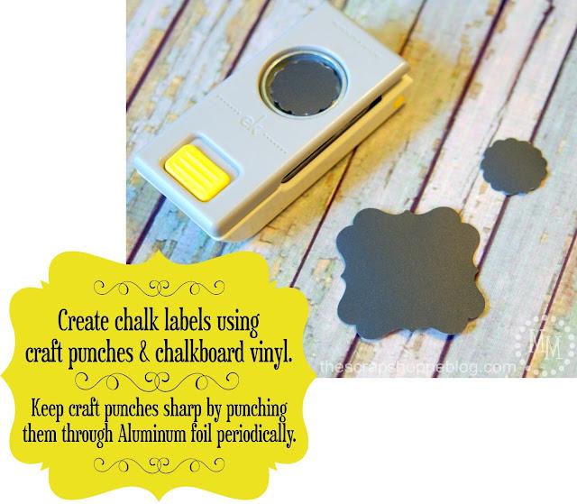 Create pretty chalkboard labels without fancy die cut machines!