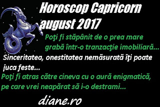 Horoscop august 2017 Capricorn