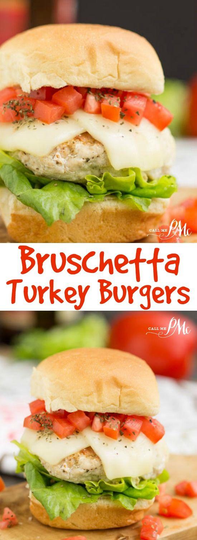 Bruschetta Turkey Burger Sliders