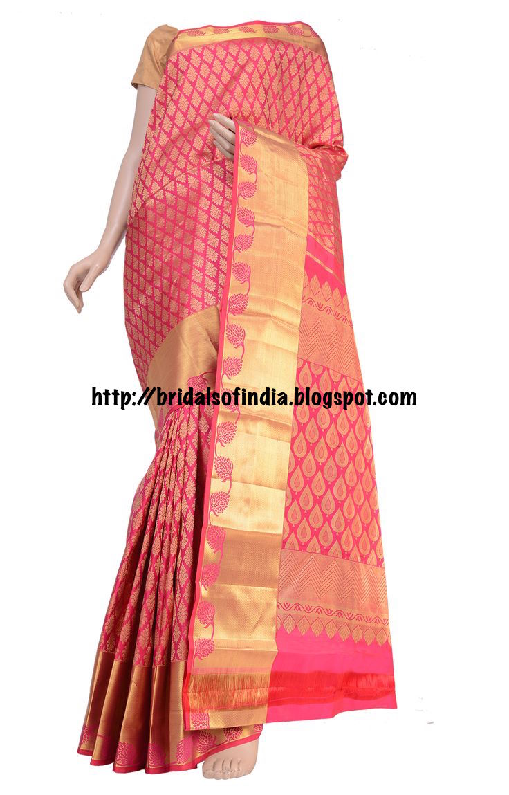 b376d66a175a0 Fashion world  Pink Wedding Silk Saree Collections - RmKV Silks