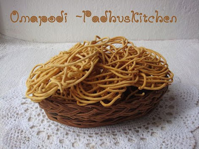 Omapodi-How to make omapodi