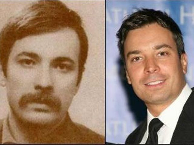 Jimmy Fallon and this mustachio guy