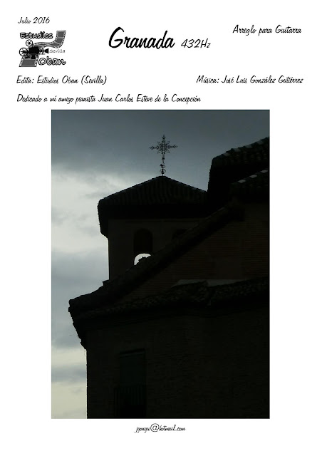 Portada Granada 432 Hz de José Luis González Composición Partitura de Piano