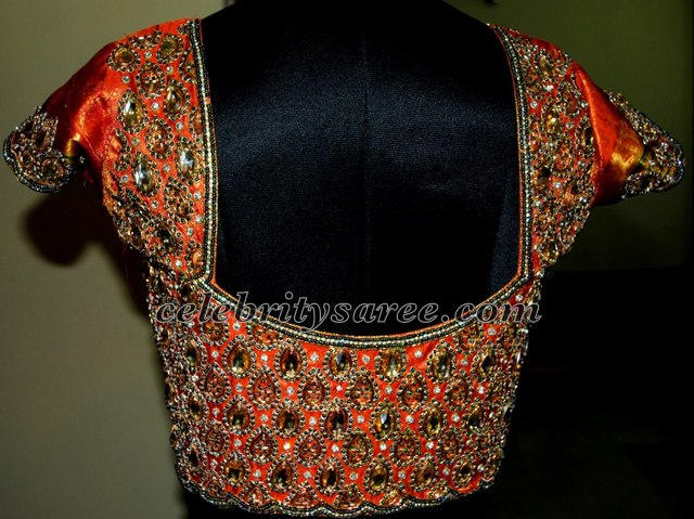 baa654f366e2c Jardhosi Crystal Work Blouse Designs - Saree Blouse Patterns
