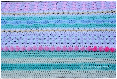 blanket, stash-buster, pretty, romantic, easy, crochet