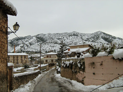 clima, Beceite, nieve, frío, nevada, está nevando, Beseit, neu, toll de rabosa, font de rabosa, carretera