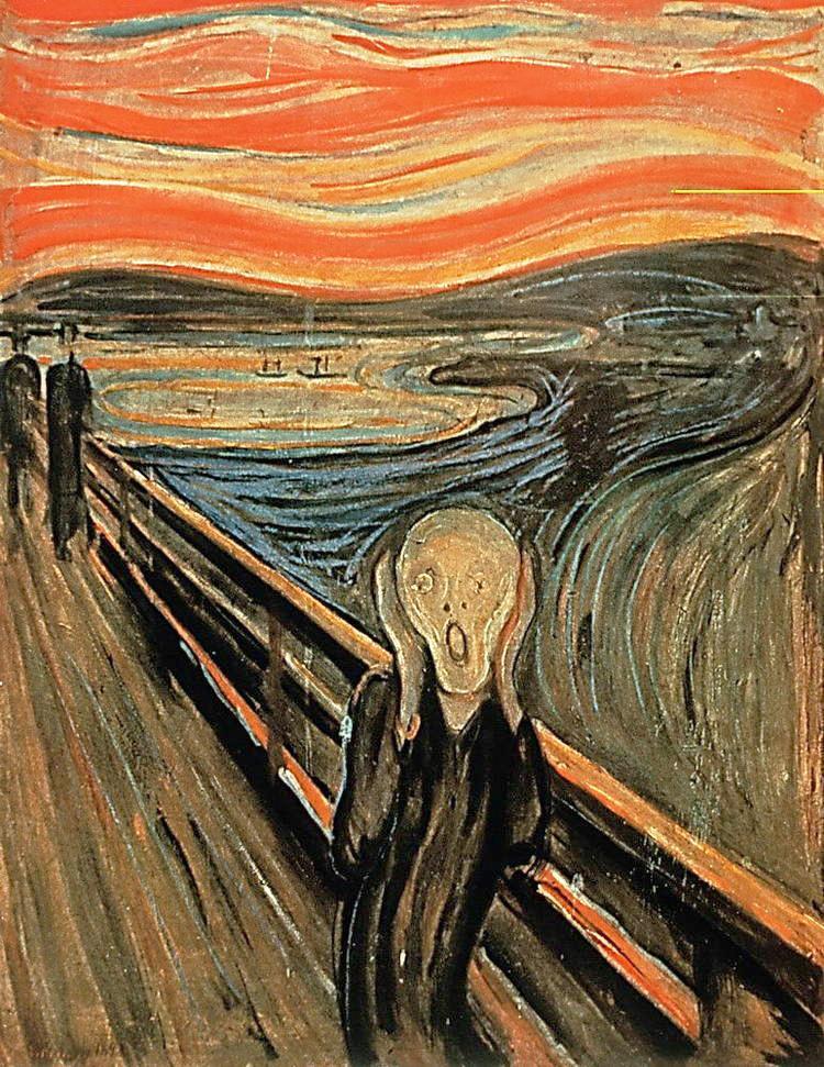 لوحة الصرخة للفنان ادفارد مونش النسخة الاصلية رسمت سنة