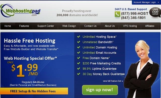 Review : Web Hosting WebHostingPad