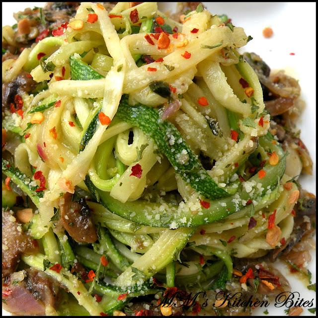 Zucchini Noodle Salad mmskitchenbites