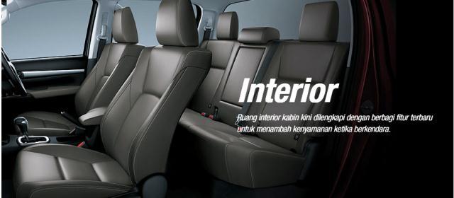 Interior Toyota Hilux dengan balutan Leather ynag berkualitas