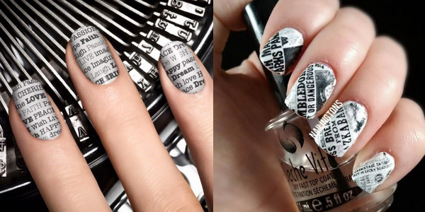 Learn how to do newspaper print nails!