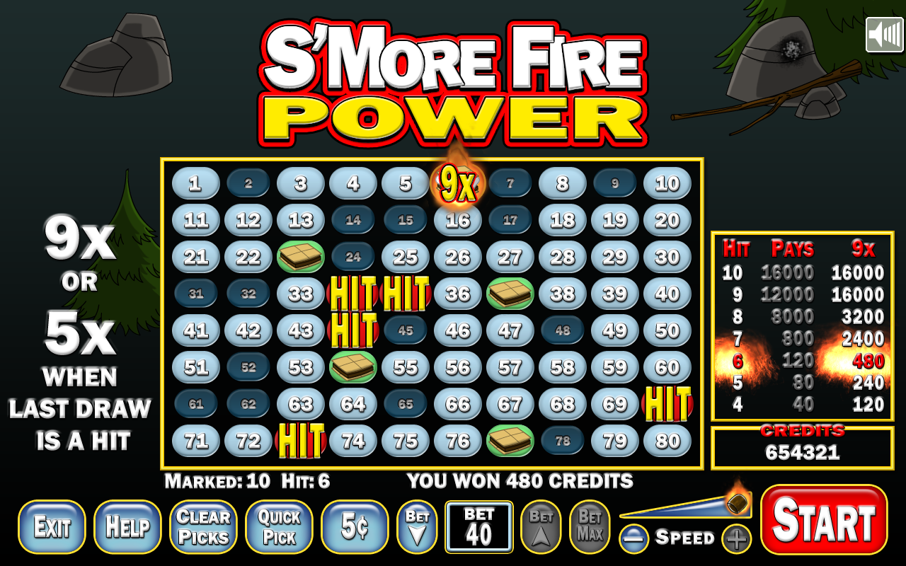 EPIC SOFTWARE LLC.: S'MORE FIRE POWER (KENO GAME)