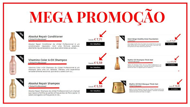 mega promoção loja Glamourosa